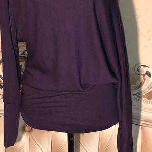 double u Tops - Purple Off Shoulder Top